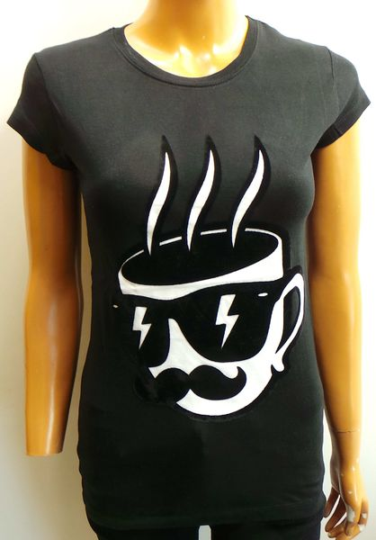 Disturbing London Ladies T-shirt 'Mug' Black