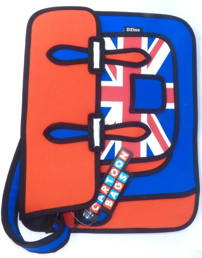 Union Jack Cartoon Style Messenger Bag