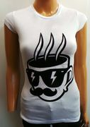 Disturbing London Ladies T-shirt 'Mug' White