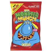 Monster Munch Flamin'Hot Corn Snack 40g