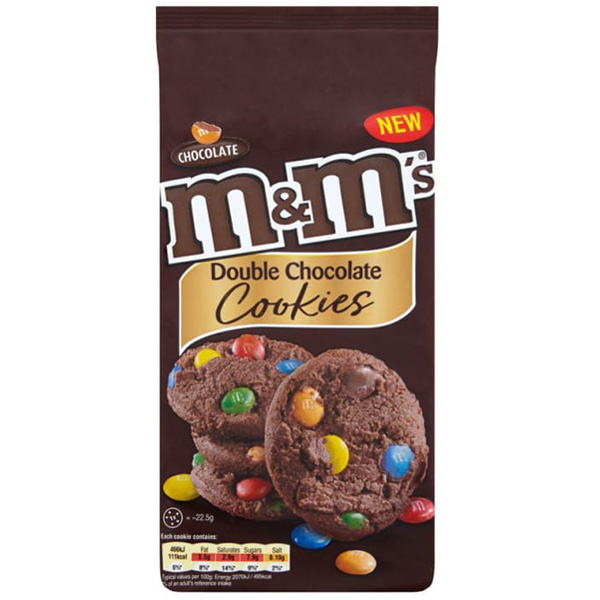 M&M Dbl Chocolate Cookies 180g