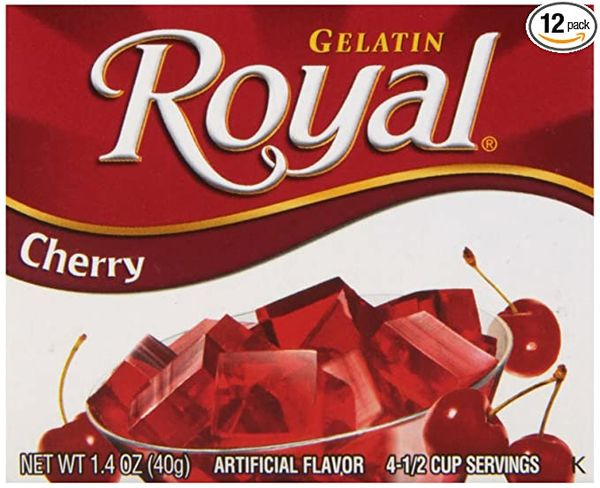 Royal Gelatine Cherry 40g