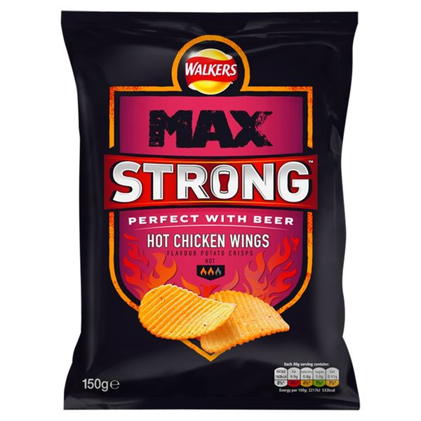 Walkers Max Strong Hot Chicken Wing 70g